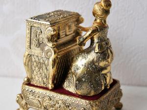 Играющая на Пианино Дама Шкатулка-Автоматон Japan Япония. Ярмарка Мастеров - ручная работа, handmade.
