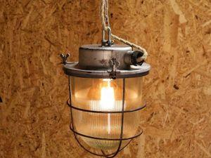 Промышленный подвесной светильник. Ярмарка Мастеров - ручная работа, handmade.