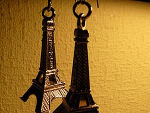 """Серьги """"Хочу в Париж"""". Ярмарка Мастеров - ручная работа, handmade."""