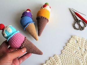 Вяжем аппетитную мороженку крючком. Ярмарка Мастеров - ручная работа, handmade.
