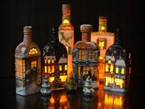Рождественские домики-светильники. Ярмарка Мастеров - ручная работа, handmade.