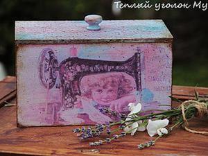 Декорируем короб для рукоделия. Ярмарка Мастеров - ручная работа, handmade.
