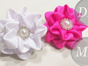 Создаем резиночку-цветок Канзаши. Ярмарка Мастеров - ручная работа, handmade.