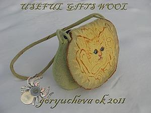 Сумка «Sunny Cat» из войлока. Ярмарка Мастеров - ручная работа, handmade.