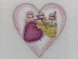 Мастер-класс по декупажу для начинающих  «Сердечко для мамы». Ярмарка Мастеров - ручная работа, handmade.