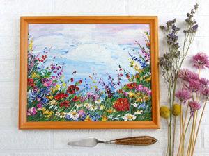Как легко и просто нарисовать красивый пейзаж «Летний луг». Ярмарка Мастеров - ручная работа, handmade.