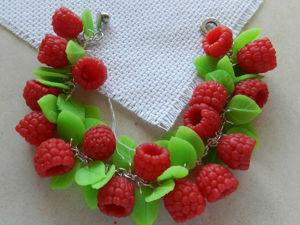 Лепим ягоды и листики малины из полимерной глины: видеоурок. Ярмарка Мастеров - ручная работа, handmade.