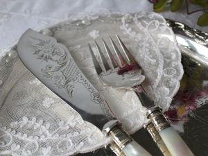 Дополнительные фотографии антикварной пары с натуральным перламутром. Ярмарка Мастеров - ручная работа, handmade.