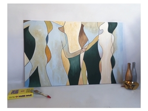 Картина  «Фигуры». Ярмарка Мастеров - ручная работа, handmade.