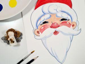 Рисуем с детьми Деда Мороза. Ярмарка Мастеров - ручная работа, handmade.