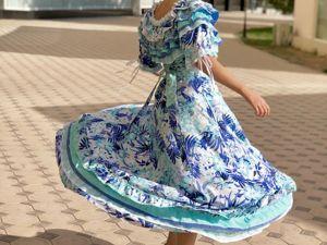 Новое платье Камелия, лаванда и тиффани. Ярмарка Мастеров - ручная работа, handmade.