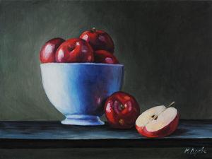 Новая работа! Картина Красные яблоки. Ярмарка Мастеров - ручная работа, handmade.