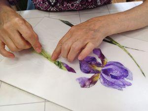 Отчёт о мастер-классе «Ирисы». Ярмарка Мастеров - ручная работа, handmade.