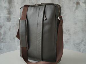Видео обзор мужской сумки через плечо «Douglas». Ярмарка Мастеров - ручная работа, handmade.