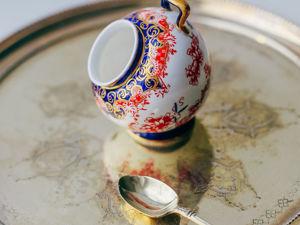Антикварная фарфоровая сахарница зольник Royal Crown Derby Англия. Ярмарка Мастеров - ручная работа, handmade.
