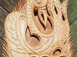 Создаем резное деревянное панно с журавлем «Крылья растут из сердца». Ярмарка Мастеров - ручная работа, handmade.