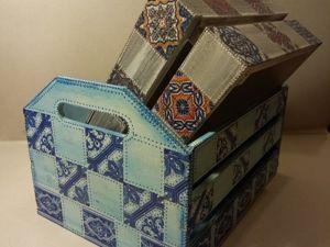 Decorating Boxes with Geometry Pattern in Decoupage Technique. Livemaster - handmade