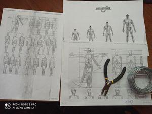 Делаем проволочный каркас для лепки фигурки человека. Ярмарка Мастеров - ручная работа, handmade.