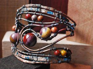 Создаём медный браслет с мукаитом. Ярмарка Мастеров - ручная работа, handmade.