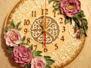 Декорируем основу часов декоративно скульптурной живописью. ЧастьIII. Ярмарка Мастеров - ручная работа, handmade.