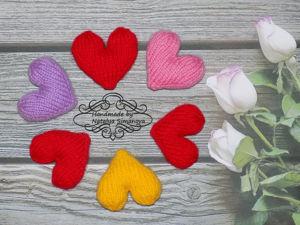 Вяжем спицами простое сердечко. Ярмарка Мастеров - ручная работа, handmade.