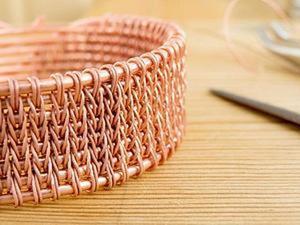 Плетение из проволоки - имитация вязания. Ярмарка Мастеров - ручная работа, handmade.