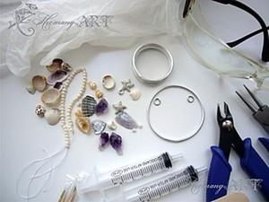 Урок по работе с эпоксидной смолой. Делаем летний кулон. Ярмарка Мастеров - ручная работа, handmade.