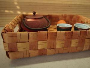 Новинка в магазине: Поднос плетеный из бересты. Ярмарка Мастеров - ручная работа, handmade.