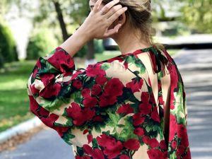 Платье Мемуары гейши, красные розы. Ярмарка Мастеров - ручная работа, handmade.