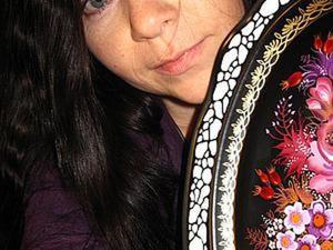 Тагильская лаковая роспись: пишем орнамент на подносе. Ярмарка Мастеров - ручная работа, handmade.