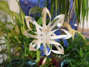 Создаем объемную снежинку из бумаги. Ярмарка Мастеров - ручная работа, handmade.