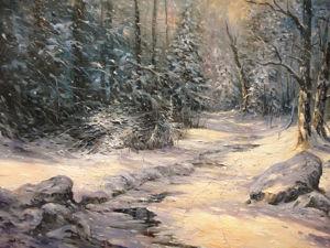 Мастер-класс по масляной живописи  «Зимнее солнце». Часть 1. Ярмарка Мастеров - ручная работа, handmade.