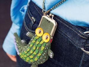 Шьем кошелек в виде крокодила. Ярмарка Мастеров - ручная работа, handmade.