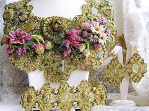 Комплект  «Цветы нам дарят вдохновенье». Ярмарка Мастеров - ручная работа, handmade.
