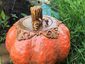 Идея шкатулки в виде Тыквы. Ярмарка Мастеров - ручная работа, handmade.