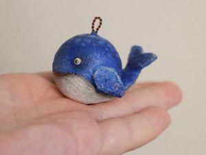 Мастерим кита из шарика от дезодоранта. Ярмарка Мастеров - ручная работа, handmade.