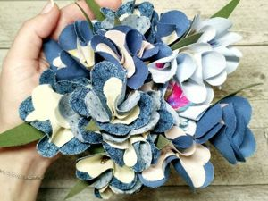 Создаем букет «50 оттенков синего...». Ярмарка Мастеров - ручная работа, handmade.