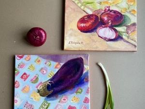 Авторские натюрморты маслом для стиля вашей кухни)). Ярмарка Мастеров - ручная работа, handmade.