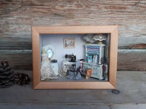 Make Miniature Roombox ''Vintage Workshop''. Livemaster - handmade
