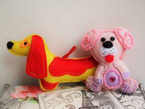 Шьем из фетра подвеску и брошь «Собачка»: видеоурок. Ярмарка Мастеров - ручная работа, handmade.