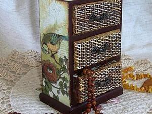 """Имитация плетения. Делаем комодик """"Уютное гнездышко"""". Ярмарка Мастеров - ручная работа, handmade."""