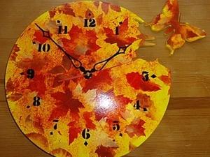 Мастер-класс: осенние часы. Ярмарка Мастеров - ручная работа, handmade.