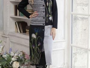 Аукцион на Вязаное платье-пальто! Старт 5000 руб.!. Ярмарка Мастеров - ручная работа, handmade.