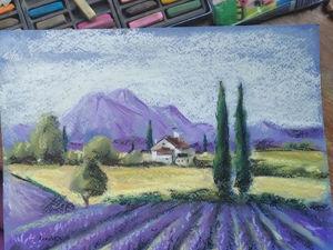 Мастер класс сухой пастелью  «Прованс». Ярмарка Мастеров - ручная работа, handmade.