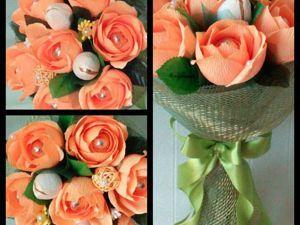 Учимся делать розу из гофрированной бумаги. Ярмарка Мастеров - ручная работа, handmade.