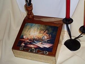 """Мастер класс по декупажу бюро """"Росчерком пера"""". Ярмарка Мастеров - ручная работа, handmade."""