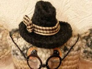 Вяжем для игрушки классическую шляпу с полями. Ярмарка Мастеров - ручная работа, handmade.