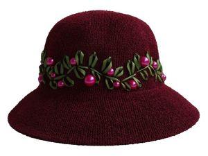 Шляпа  «Клюквы лукошко». Ярмарка Мастеров - ручная работа, handmade.