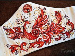 Ручная роспись платья в русском стиле. Ярмарка Мастеров - ручная работа, handmade.