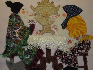 Создаем текстильную картину «Чаепитие». Ярмарка Мастеров - ручная работа, handmade.